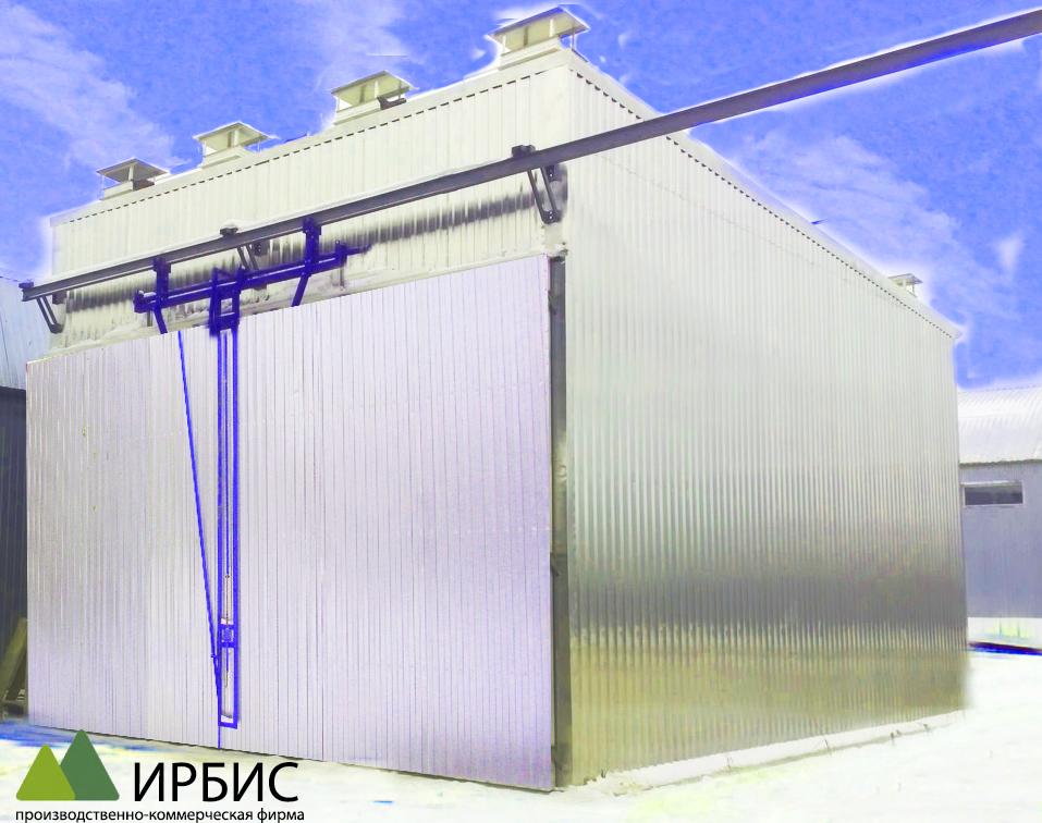 Конвективные сушильные камеры с трековой загрузкой (25-50 м3)
